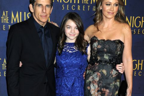 Ben Stiller : Folle ''Nuit au musée'' avec sa femme, leur fille... et un singe