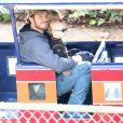 Exclusif - Anna Faris et son mari Chris Pratt emmènent leur fils Jack au Travel Town Museum à Los Angeles, le 14 décembre 2014.