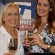 L'ex-championne Martina Navratilova a demandé sa compagne Julia Lemigova en mariage lors de l'US Open, le 6 septembre 2014.