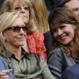 Martina Navratilova et sa compagne Julia lors de la finale dame de Wimbledon le 7 juillet 2012