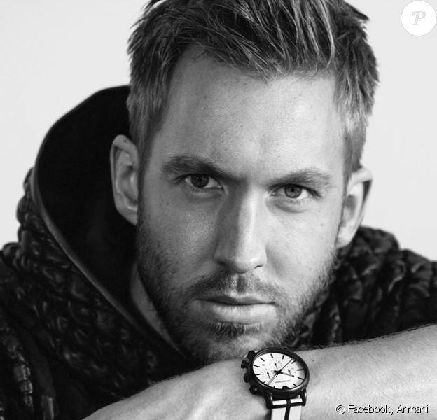 Le DJ et producteur Calvin Harris est la nouvelle égérie d'Emporio Armani. Il apparaît sur les campagnes printemps-été 2015 prêt-à-porter, lunettes et montres de la griffe italienne.