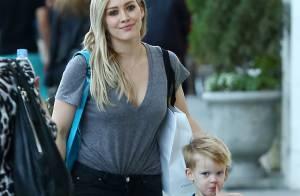 Hilary Duff et son adorable Luca à la rencontre du Père Noël
