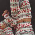 Kendall Jenner et sa nièce Penelope au lendemain du réveillon de Noël de la famille Kardashian. Los Angeles, le 24 décembre 2014.