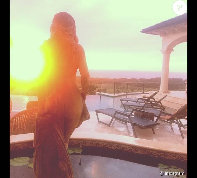 Rihanna sur instagram la barbade joli coucher de - Heure de lever et coucher de la lune ...