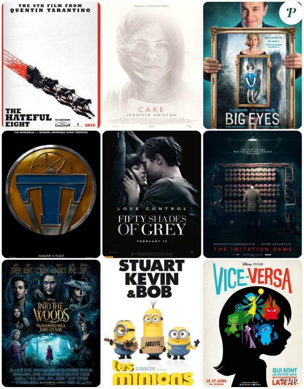Quelques affiches de films anglo-saxons très attendus en 2015.