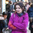 Katie Holmes dans les rues de Venice, à Los Angeles, le 28 décembre 2014
