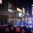 Taylor Swift lors de sa performance à Times Square pour le New Year's Rockin' Eve 2015 le 31 décembre 2014.