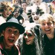 Lewis Hamilton, Nicole Scherzinger et Tom Cruise dans les coulisses de la comédie musicale Cats à Londres, photo publiée sur le compte Instagram du champion de Formule 1 le 27 décembre 2014