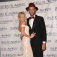 """Tatiana Laurens et son mari Xavier Delarue - Cérémonie des """"Lauriers TV Awards 2015"""" à la Cigale à Paris, le 6 janvier 2015.s"""