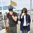Exclusif - Andrew Garfield et Emma Stone arrivent au 71e festival du film Venise le 30 août dernier
