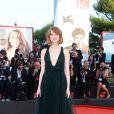 """Emma Stone à la première du film """"Birdman"""" lors du 71e festival du film de Venise, le 27 août 2014."""