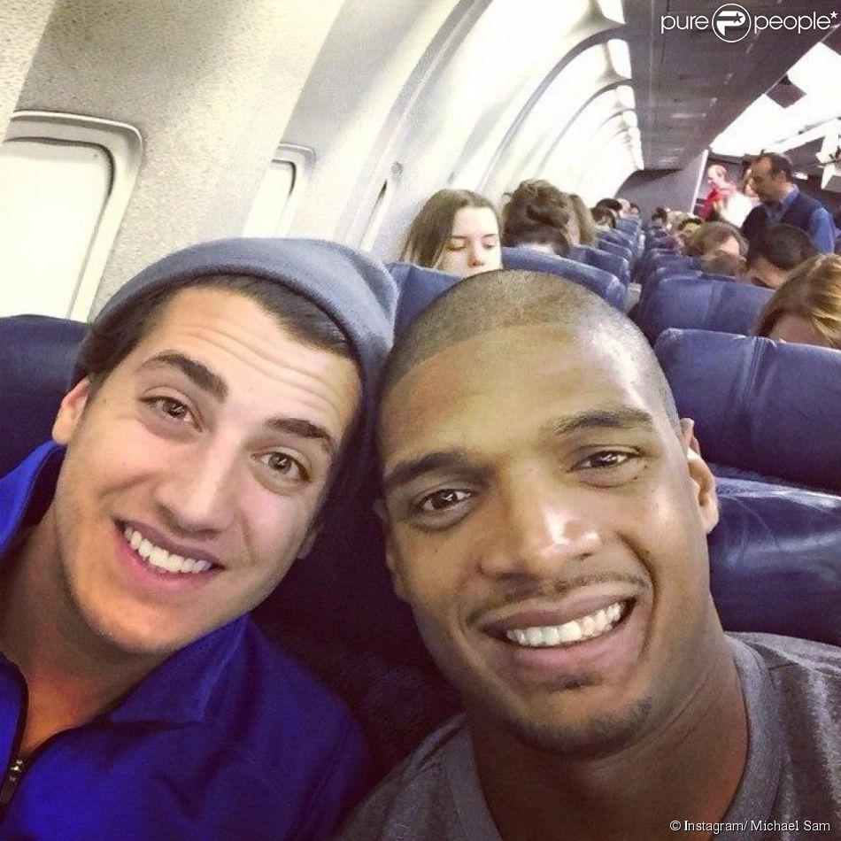 Michael Sam et Vito Cammisano - photo publiée sur le compte Instagram de Michael Sam le