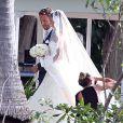 Exclusif - Le coureur automobile Jenson Button et Jessica Michibata se marient dans la stricte intimité à Maui à Hawaï, le 29 décembre 2014 entourés de leurs familles et de leurs amis.