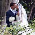 Exclusif - Jenson Button et Jessica Michibata se marient à Maui à Hawaï, le 29 décembre 2014 entourés de leurs familles et de leurs amis.