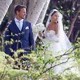 Exclusif - Le coureur automobile de Formule 1 anglais Jenson Button et Jessica Michibata se marient dans la stricte intimité à Maui à Hawaï, le 29 décembre 2014 entourés de leurs familles et de leurs amis.