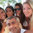 Romario (49 ans) avec ses enfants et sa nouvelle compagne Dixie Pratt (19 ans) sur l'île d'Aruba - janvier 2015