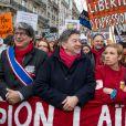 Jean-Luc Melenchon - Marche républicaine pour Charlie Hebdo à Paris, le 11 janvier 2015