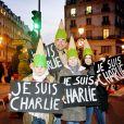 Marche républicaine pour Charlie Hebdo à Paris le 11 janvier 2015.