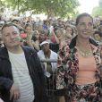 Carmen et Paul, les parents de Kendji Girac, à Bergerac, le 17 mai 2014.