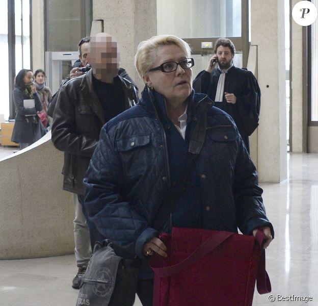 Jacqueline Cuchet (alias Jakie Quartz) au tribunal correctionnel de Créteil pour des faits de violences sur sa mère. Le 18 février 2014.