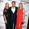 """Kevin Costner et sa fille Lily Costner, Christine Baumgartner - Première de """"Black or White"""" à Los Angeles le 20 janvier 2015."""