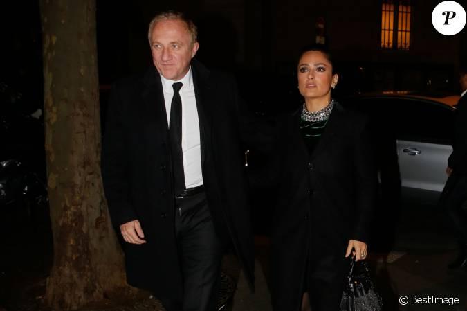 Fran ois henri pinault et sa femme salma hayek arrivent au - Francois busnel sa femme ...