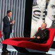 """Exclusif - L'émission """"Le Divan"""" présentée par Marc Olivier Fogiel et qui a pour invité Fabrice Luchini, le 23 janvier 2015"""