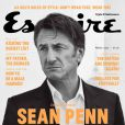 Sean Penn en couverture du magazine Esquire (pour le mois de mars).
