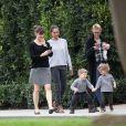 Jennifer Garner se promène avec son fils Samuel à Los Angeles, le 29 janvier 2015