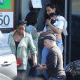 Exclusif - Kelly Rowland et son fils Titan Jewell quittent le restaurant My Two Cents après un déjeuner en famille. Los Angeles, le 25 janvier 2015.