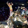 Katy Perry durant la mi-temps du Super Bowl 2015, le 1er février à Glendale.