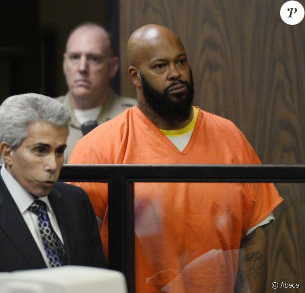Suge Knight, inculpé pour meurtre et délit de fuite, a plaidé non coupable lors d'une comparution au tribunal de Compton. Le 3 février 2015.