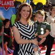 """Alyssa Milano à la Premiere du film """"Planes"""" a Hollywood, le 5 aout 2013."""