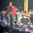 Travis Scott et Sean Kingston (qui fête ses 25 ans) enflamment l'Argyle à Hollywood, Los Angeles, le 3 février 2015.