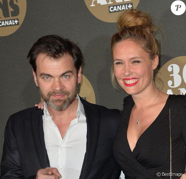 Clovis Cornillac et sa femme Lilou Fogli - Soirée des 30 ans de Canal+ au Palais de Tokyo à Paris le 4 novembre 2014.