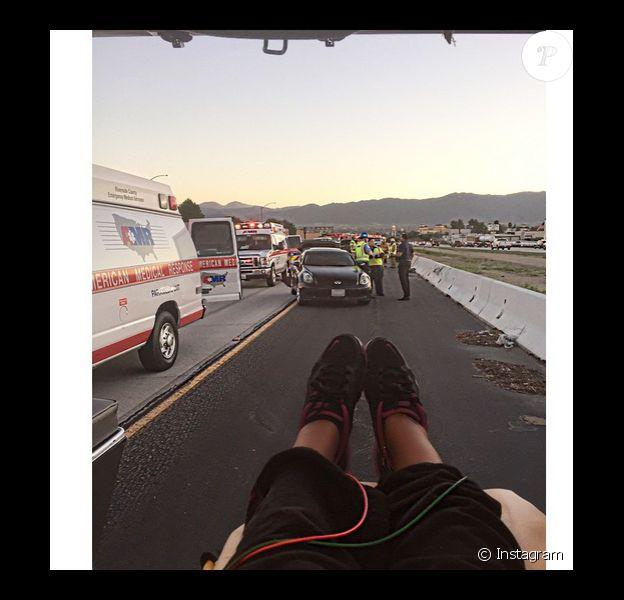 Samantha Mumba peu de temps après son accident de voiture a ajouté une photo sur son compte Instagram le 10 février 2015