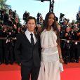 Christophe Rocancourt et Naomi Campbell au Palais des Festivals de Cannes, le 21 mai 2008