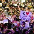 """Exclusif - La jolie Martina Stoessel, l'héroïne de la série """"Violetta"""" entamait à la Halle Tony Garnier de Lyon une série de concerts en France - Lyon, le 11 Fevrier 2015."""