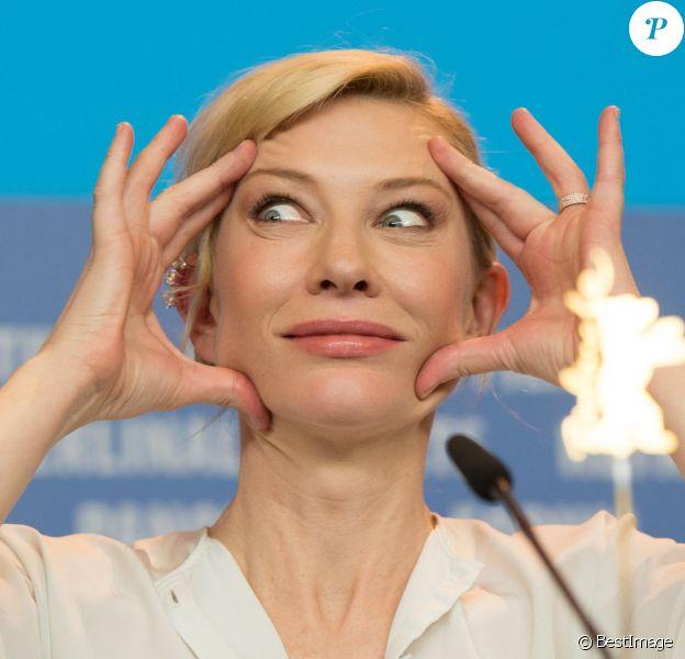 """Cate Blanchett - Conférence de presse du film """"Cinderella"""" (Cendrillon) lors de la 65ème Berlinale au Grand Hyatt Hotel à Berlin, le 13 février 2015."""