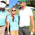 """La chanteuse Fergie et son mari Josh Duhamel assistent au tournoi de golf """"AT&T Pebble Beach National Pro"""" à Pebble Beach en Californie. Le 14 février 2015"""