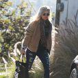 Exclusif - Fergie se rend chez une amie à West Hollywood, le 12 février 2015.