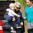 Fergie et son fils Axl jouent dans un parc à Los Angeles Le 30 Janvier 2015