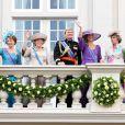 Peter van Vollenhoven, Margriet, Beatrix, Willem-Alexander, Maxima, Laurentien et Constantijn