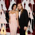 Zoe Saldana et son mari Marco Perego - 87e cérémonie des Oscars à Hollywood, le 22 février 2015.