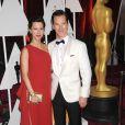 Benedict Cumberbatch et sa femme Sophie Hunter enceinte - 87e cérémonie des Oscars à Hollywood, le 22 février 2015.
