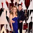 John Travolta et Kelly Preston à la 87e cérémonie des Oscars à Hollywood, le 22 février 2015.