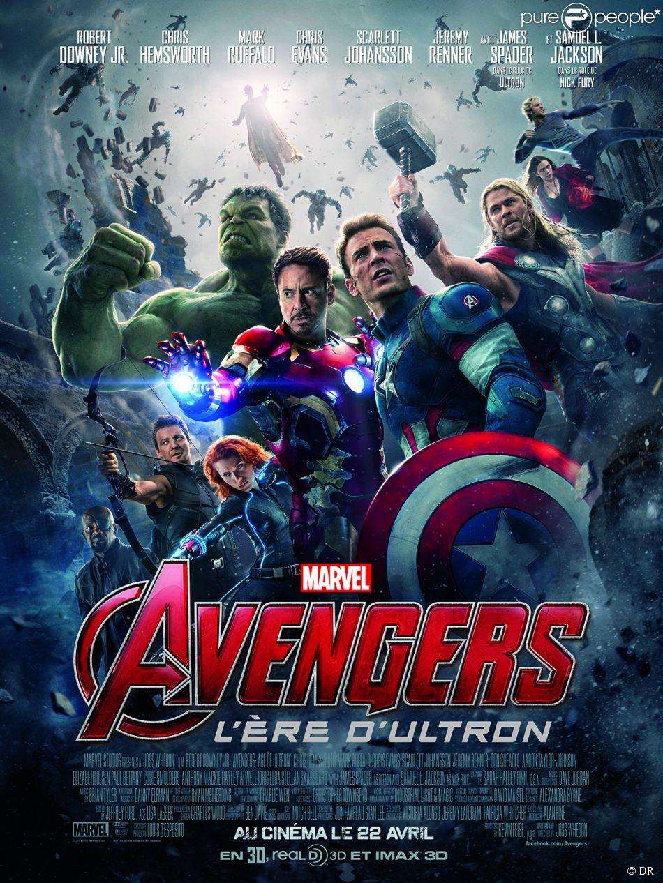 Affiche du film Avengers - L'ère d'Ultron en salles le 22 avril 2015