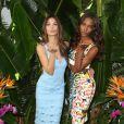 Les mannequins Lily Aldridge et Jasmine Tookes assistent à un événement Victoria's Secret, célébrant la diffusion imminente de l'émission Victoria's Secret Swim Special, à l'hôtel Sunset Marquis. West Hollywood, Los Angeles, le 24 février 2015.