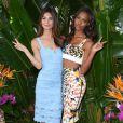 Lily Aldridge et Jasmine Tookes assistent à un événement Victoria's Secret, célébrant la diffusion imminente de l'émission Victoria's Secret Swim Special, à l'hôtel Sunset Marquis. West Hollywood, Los Angeles, le 24 février 2015.