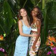 Lily Aldridge et Jasmine Tookes, duo sexy pour célébrer la diffusion imminente de l'émission Victoria's Secret Swim Special, à l'hôtel Sunset Marquis. West Hollywood, Los Angeles, le 24 février 2015.